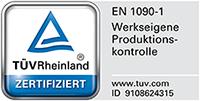 Vossen+Söhne TÜV Zertifizierung EN 1090-1