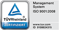 Vossen+Söhne TÜV Zertifizierung ISO 9001:2008