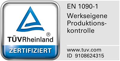 Vossen+Söhne TÜV Zertifizierung Werkseigene Produktionskontrolle